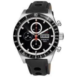 Tissot Men's 'T-Sport PRS 516' Black Strap Automatic Chronograph Watch