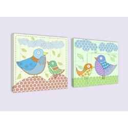 Ankan 'Pastel Birds Set' Canvas Art Set