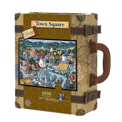 Collector's Edition Town Square 1,000-pc Suitcase Puzzle