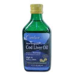 Carlson Laboratories Norwegian Cod Liver Oil 250 ML Bottle