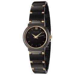 Pulsar Women's Black Dial Two-tone Watch