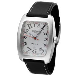 Locman Women's 'Tonneau' Aluminum Leather Quartz Watch