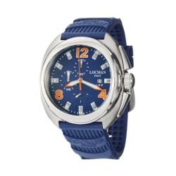 Locman Men's 'Military Watches' Blue Titanium Rubber Quartz Watch