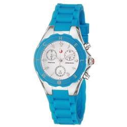 Michele Women's 'Tahitian Jelly Beans' Blue Silicon Quartz Watch