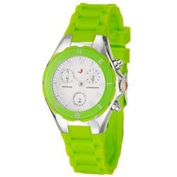 Michele Women's 'Tahitian Jelly Beans' Lime Silicon Quartz Watch