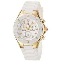 Michele Women's 'Tahitian Jelly Beans' White Silicon Quartz Watch