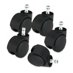 Master Caster Deluxe 2.2-inch Matte Black Casters