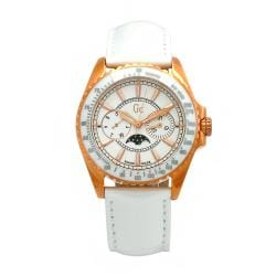 Guess Collection Women's Leather White Moonphase Swiss Quartz Watch