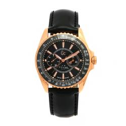 Guess Collection Women's Leather Black Moonphase Dial Swiss Quartz Watch