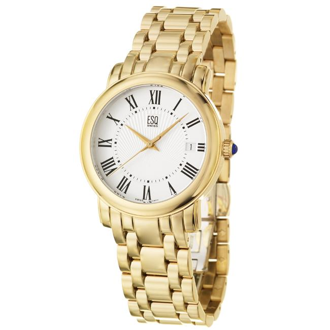 ESQ by Movado Men's 'Filmore' Goldplated Stainless Steel Quartz Watch