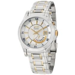 Seiko Men's 'Premier' Goldplated Steel Kinetic Watch