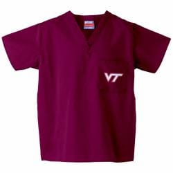 Gelscrub Unisex Maroon Virginia Tech Hokies Scrub Top