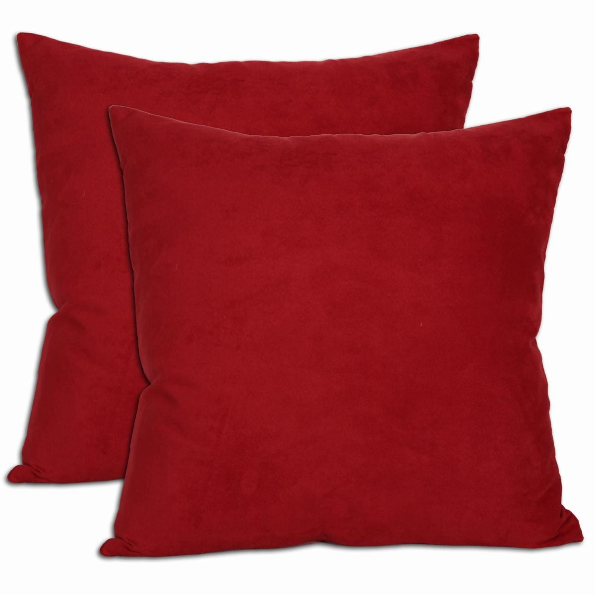 RED Microsuede Throw Pillows SET OF 2 eBay