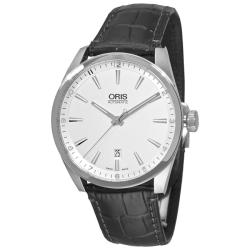 Oris Men's 'Artix Date' Black Leather Strap Automatic Watch