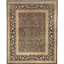 Asian Hand-knotted Zebra Beige Wool Rug (4' x 6')