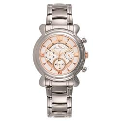 Lucien Piccard Men's Stainless Steel Rosetone Chronograph Watch