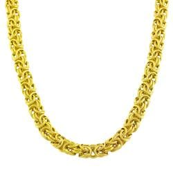 Sterling Silver Byzantine Bali Chains Necklaces