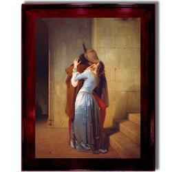 Francesco Hayez 'Il Bacio' Framed Canvas Art
