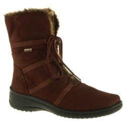 Women's Ara Magaly 48523 Brown Faux Suede/Beige Fur Trim