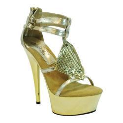 Women's Highest Heel Amber-41 Gold Metallic PU