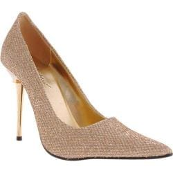 Women's Highest Heel Glitzee Gold Glitter