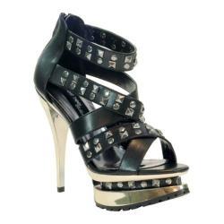 Women's Highest Heel Rockin-11 Black Soft Polyurethane