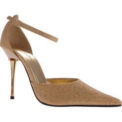 Women's Highest Heel Slick Gold Glitter