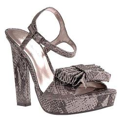 Women's Jessica Simpson Casa Dark Pewter Stamped Metallic Snake