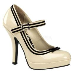 Women's Pin Up Secret 15 Cream Patent Leather
