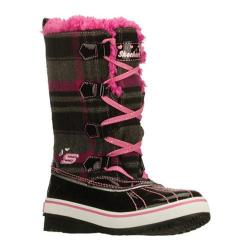 Girls' Skechers Highlanders Safari Glitz Black/Pink