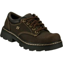 Women's Skechers Parties Mate Black Scuff Resistant Leather