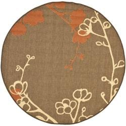 Safavieh Indoor/ Outdoor Brown/ Terracotta Rug (5'3 Round)
