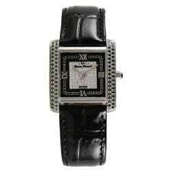Lucien Piccard Women's Luna Collection Stainless Steel and Diamond Watch