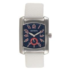 Dufonte by Lucien Piccard Men's Ventura Collection White Rubber Watch