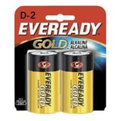 Eveready D Cell Alkaline Battery Retail Pack -