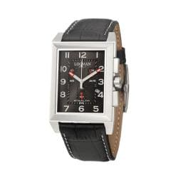 Locman Men's 'Sport' Stainless Steel and Leather Quartz Date Watch