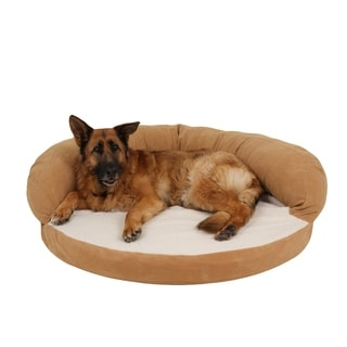 Carolina Pet Caramel Tan Ortho Sleeper Bolster Pet Bed