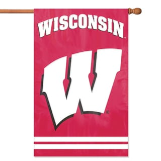 Party Animal Wisconsin Applique Banner Flag