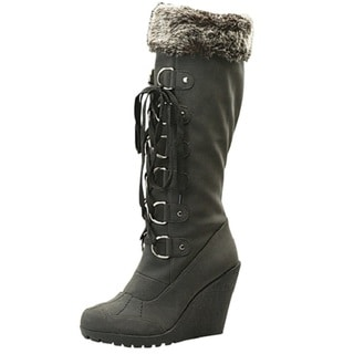 Toi et Moi Women 'Fedel-05' Black Micro-suede Lace-up Boots (10145843 Riplay) photo