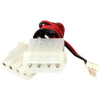 StarTech.com Fan Adapter - TX3 to 2X LP4 Power Y splitter Cable - 4 p