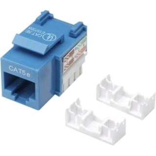 Intellinet Cat5e UTP Punch-down Keystone Jack, Blue
