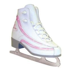 Girls' American 516 Softboot Figure Skate White/Pink