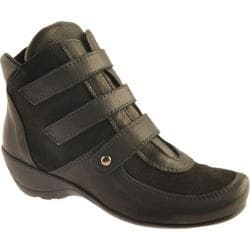 Women's Antia Shoes Ellen Black Leather/Suede