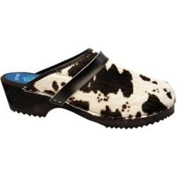 Cape Clogs Cow Black/White