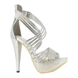 Women's Ellie Mia Silver Metallic Fabric