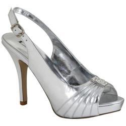 Women's Lava Shoes Amy Silver Metallic Polyurethane