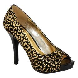 Women's Lava Shoes Tiger Animal Print Fabric