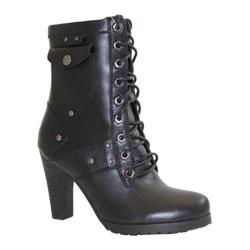 Women's Ride Tecs Laced Biker Boot Black