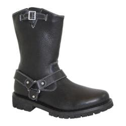 Women's Ride Tecs Side Zipper Biker Boot Black