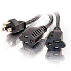 C2G 6ft 16 AWG 1-to-2 Power Cord Splitter (1 NEMA 5-15P to 2 NEMA 5-1